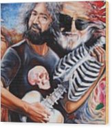 Jerry Garcia And The Grateful Dead Wood Print
