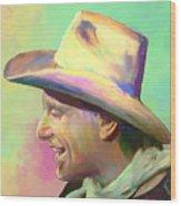 Jerry Jeff The Gypsy Songman Wood Print by GCannon
