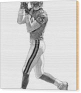 Jerry Rice Wood Print by Harry West