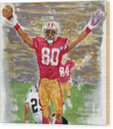 Jerry Rice The Greatest Wood Print