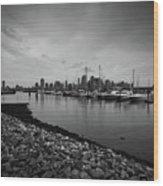 Jersey City Yacht Club Wood Print