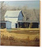 Jersey Farm Wood Print