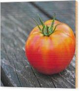 Jersey Fresh Garden Tomato Wood Print