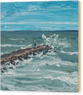 Jersey Jetty Wood Print