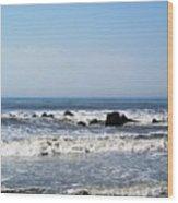 Jersey Shore Morning - Atlantic City Wood Print