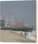 Jersey Shore Summer Wood Print