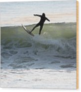 Jersey Surfing Wood Print