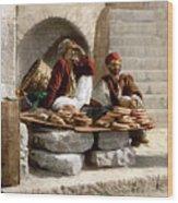 Jerusalem - Bread Seller Wood Print