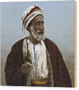 Jerusalem - Sheik Of Palestinian Village Wood Print
