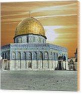 Jerusalem - The Light Wood Print