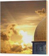 Jerusalem - The Morning Light Wood Print