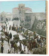 Jerusalem: Bazaar, C1900 Wood Print