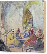 Jerusalem Cafe Wood Print