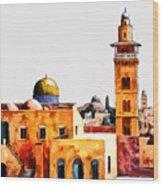 Jerusalem Domes And Minarets Wood Print