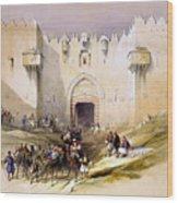 Jerusalem Gate Wood Print