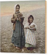 Jerusalem Girls, C1900 Wood Print