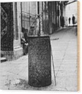 Jerusalem: Roman Pillar Wood Print