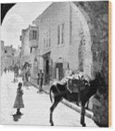 Jerusalem Street In 1914 Wood Print