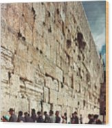 Jerusalem  Wailing Wall - To License For Professional Use Visit Granger.com Wood Print