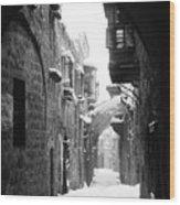 Jerusalem: Winter Wood Print
