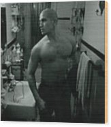 Jesse After Shaving His Head Wood Print