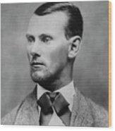 Jesse James -- American Outlaw Wood Print