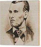 Jesse James Wood Print