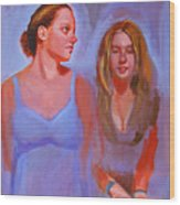 Jessica And Kate Wood Print