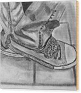 Jessicas Sneakers Wood Print