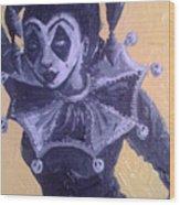 Jester Girl #1 Wood Print
