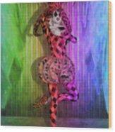 Jester Rainbow Girl  Wood Print