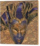 Jester's Mask Wood Print