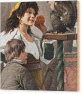 Jesters With Monkey Wood Print