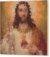 Jesus Abstract Wood Print