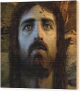 Jesus Alive Again Wood Print