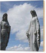 Jesus And Mary Wood Print