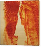 Jesus And Our Lady On Calvary Wood Print