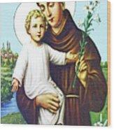 Jesus And Saint Anthony Wood Print