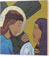Jesus And Veronica Wood Print