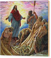 Jesus Appears To The Fishermen Wood Print