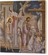 Jesus Arrest And Preparation For Crucifiction Wood Print