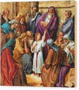 Jesus As A Child Wood Print