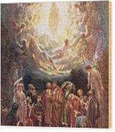 Jesus Ascending Into Heaven Wood Print