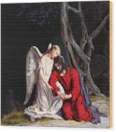 Jesus At Gethsemane Wood Print by Rebecca Poole