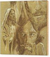 Jesus Wood Print by Bryan Dechter