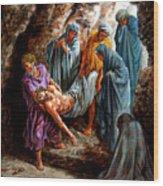 Jesus Burial Wood Print