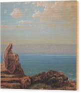 Jesus By The Sea Wood Print