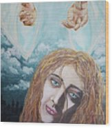 Jesus Close To The Broken Hearted Wood Print