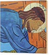 Jesus Falls Under The Cross Wood Print