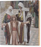 Jesus Found In The Temple Wood Print by Tissot
